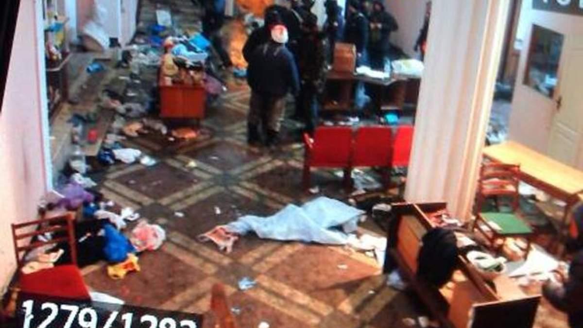 """""""Беркут"""" разгромил медпункт на Грушевского, теперь помощь оказывают в библиотеке парламента"""