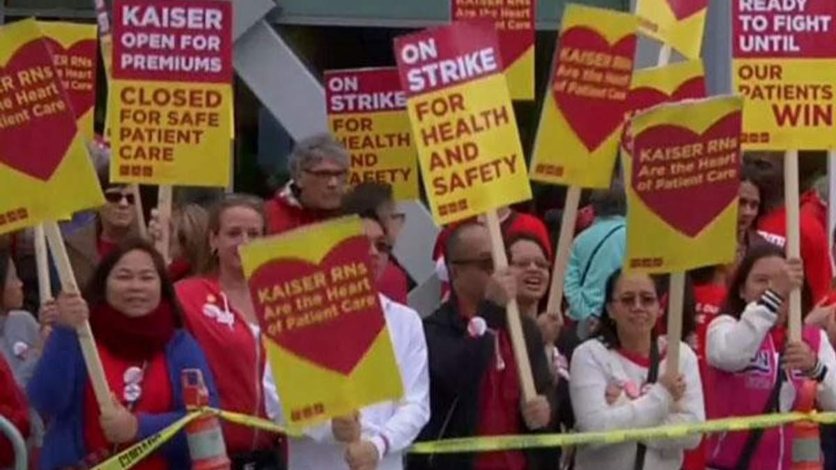 В США бастуют 18 тысяч медсестер