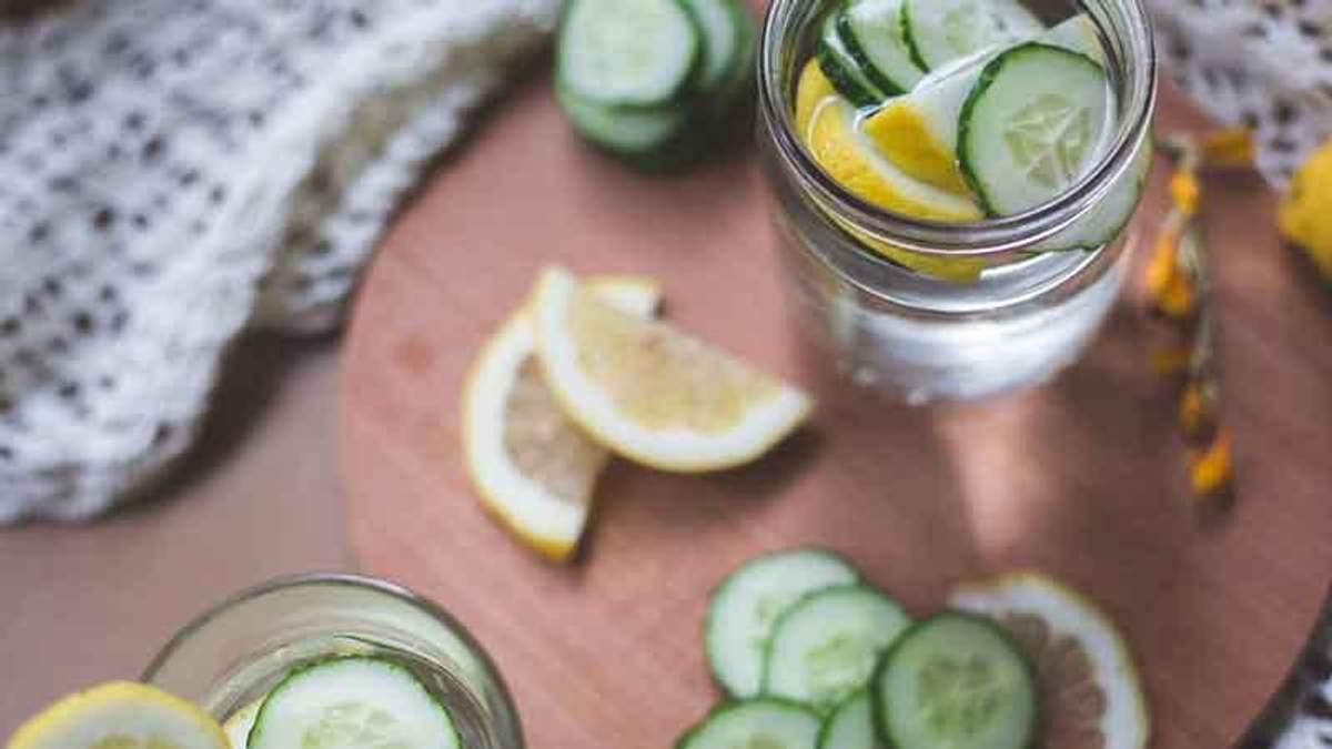 Рецепт напитка с лимоном и огурцом для похудения