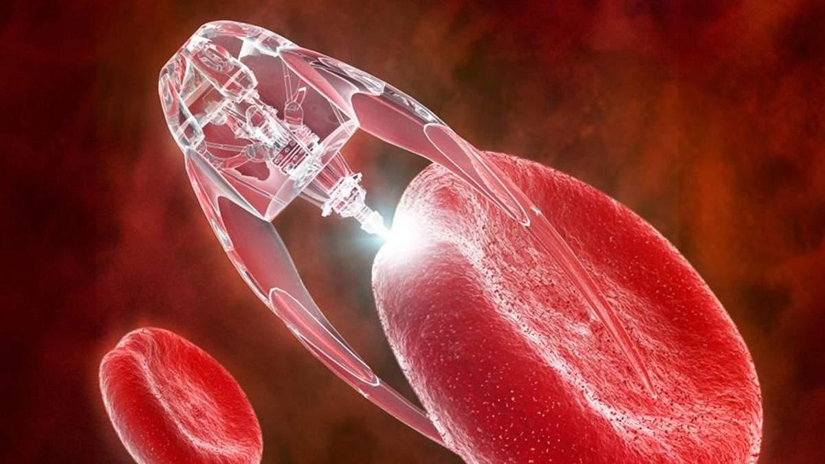 Нанороботи змогли повністю очистити кров від токсинів