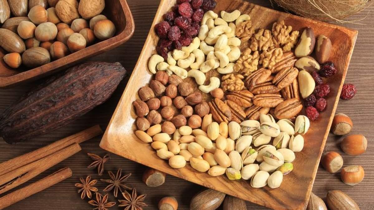 Шесть видов орехов и их полезные свойства