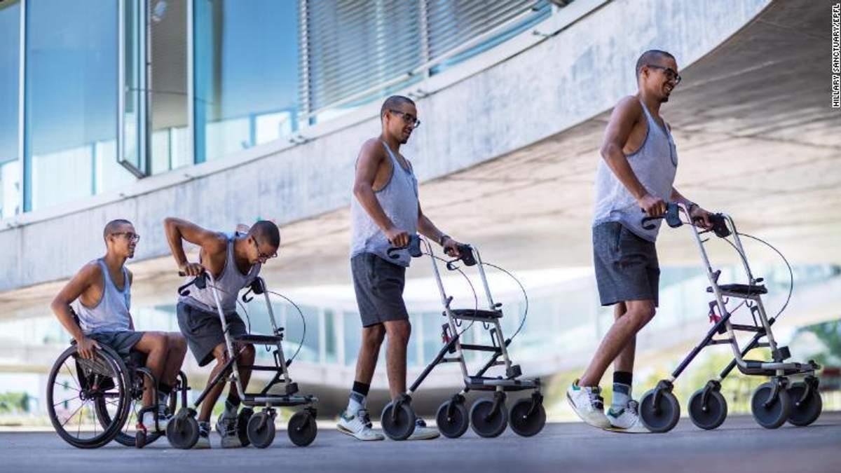 Парализованный пациент снова начал ходить