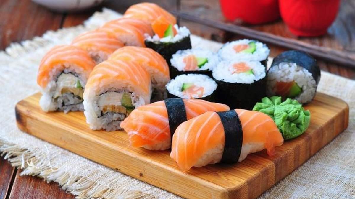 Суши нельзя есть во время правильного питания