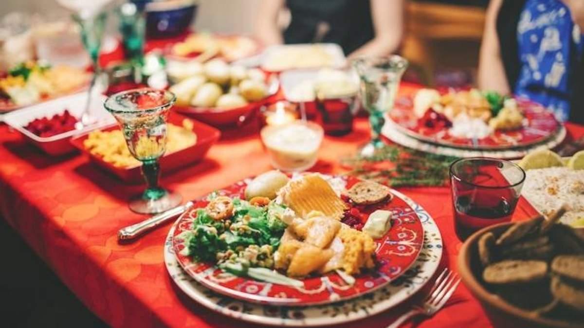 Калорійність святкових страв