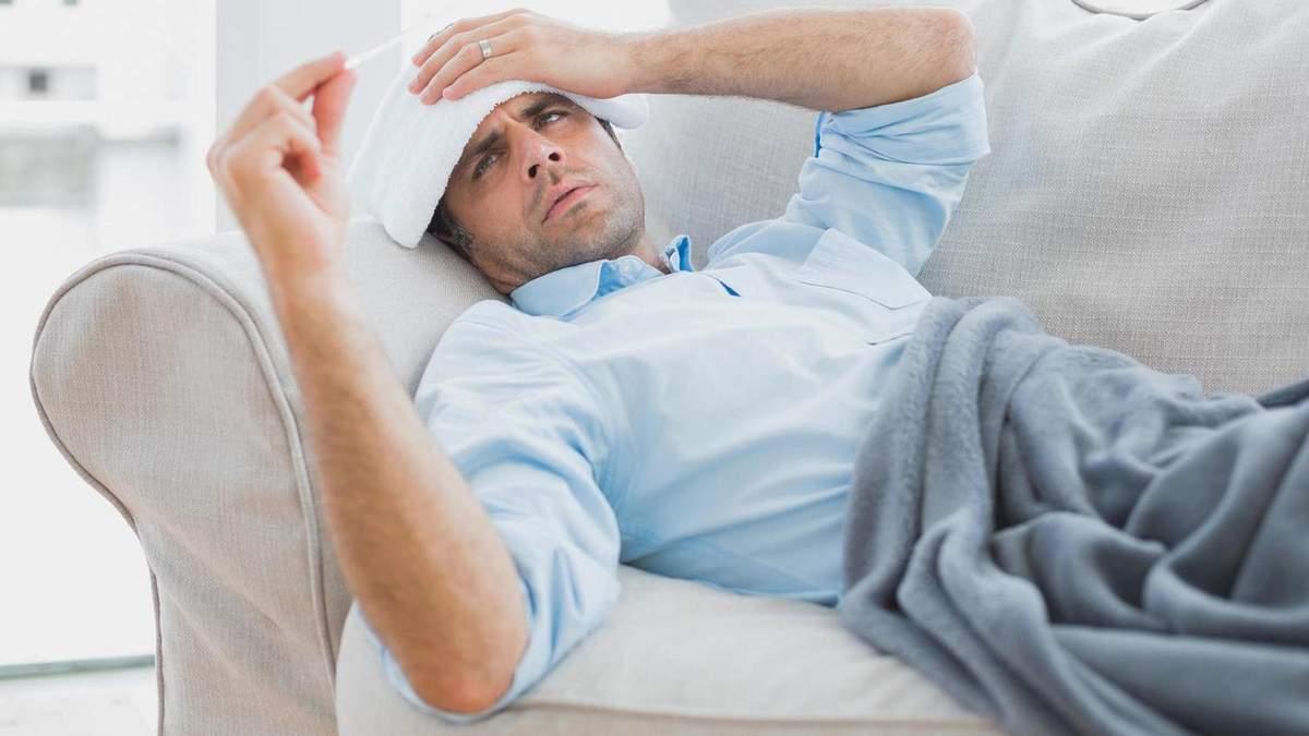 """Чому чоловіки """"перебільшують"""" симптоми грипу та застуди"""