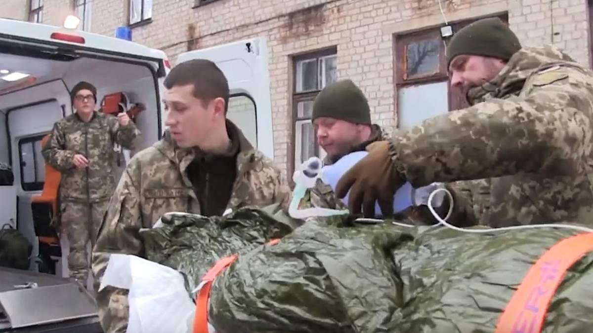 В зоне ООС на Донбассе заработало первое подразделение медицинской эвакуации: видео