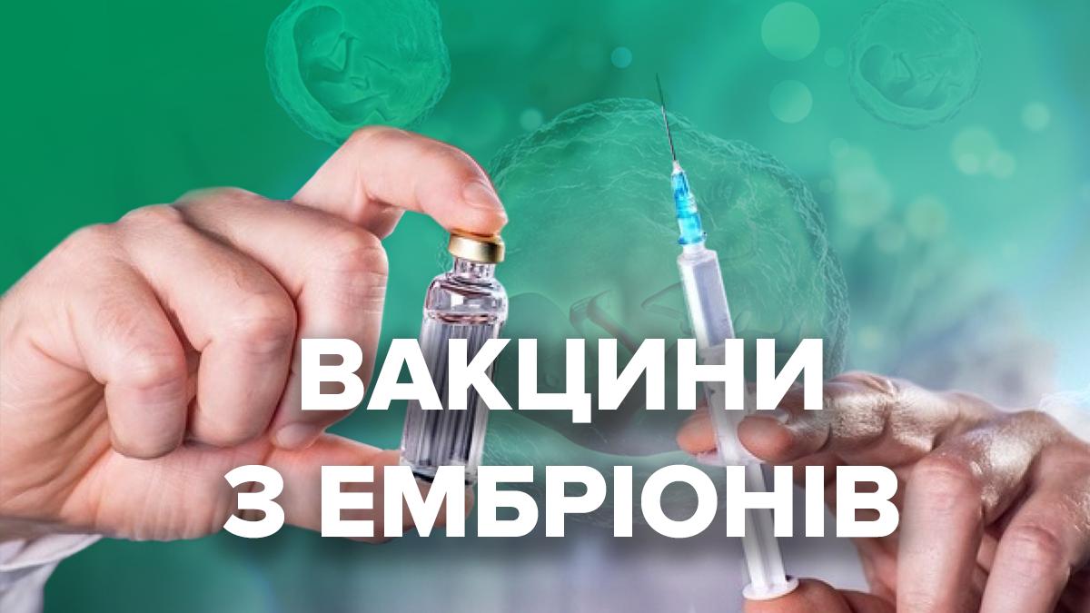 Вакцины из абортированных эмбрионов