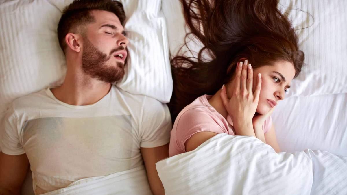 Хропіння небезпечне для здоров'я вашого партнера