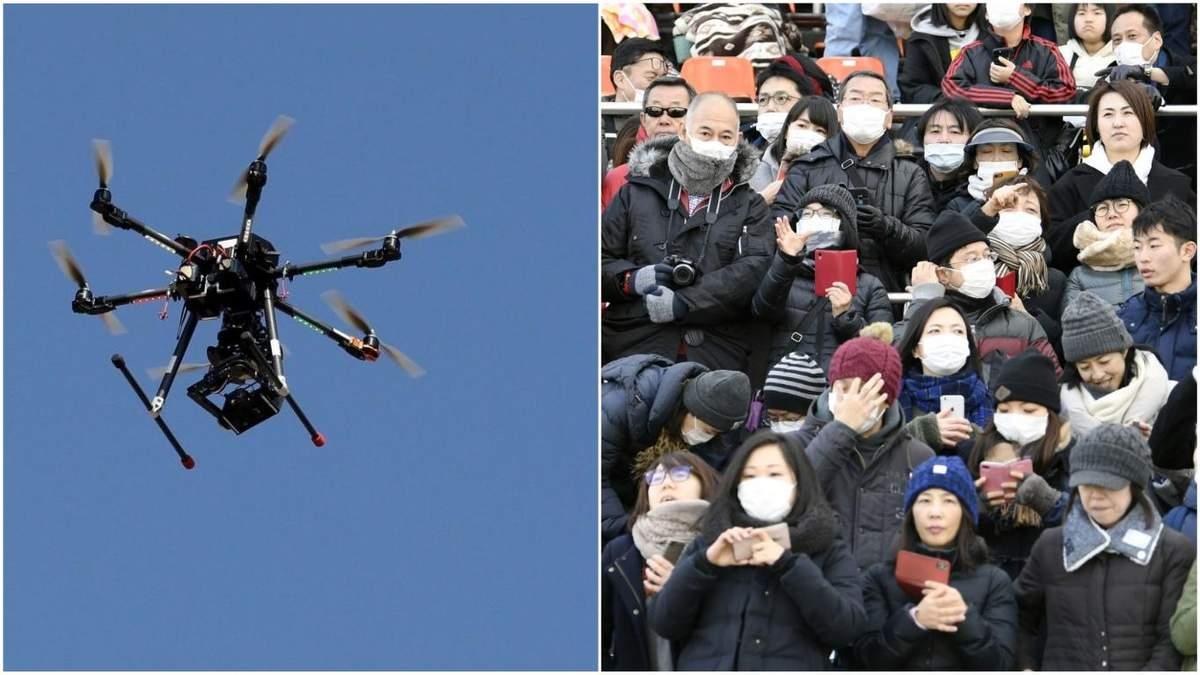 В Китае о коронавирусе предупреждают дроны