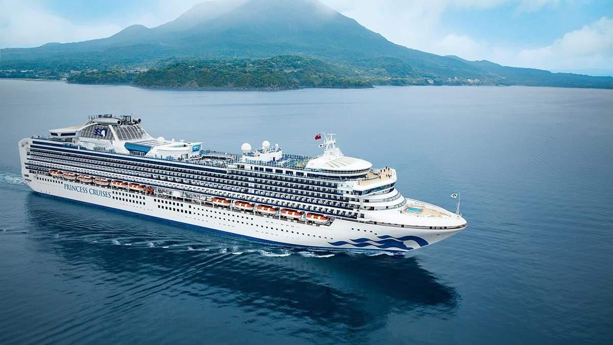 Через коронавірус судно Diamond Princess помістили в карантин у Японії