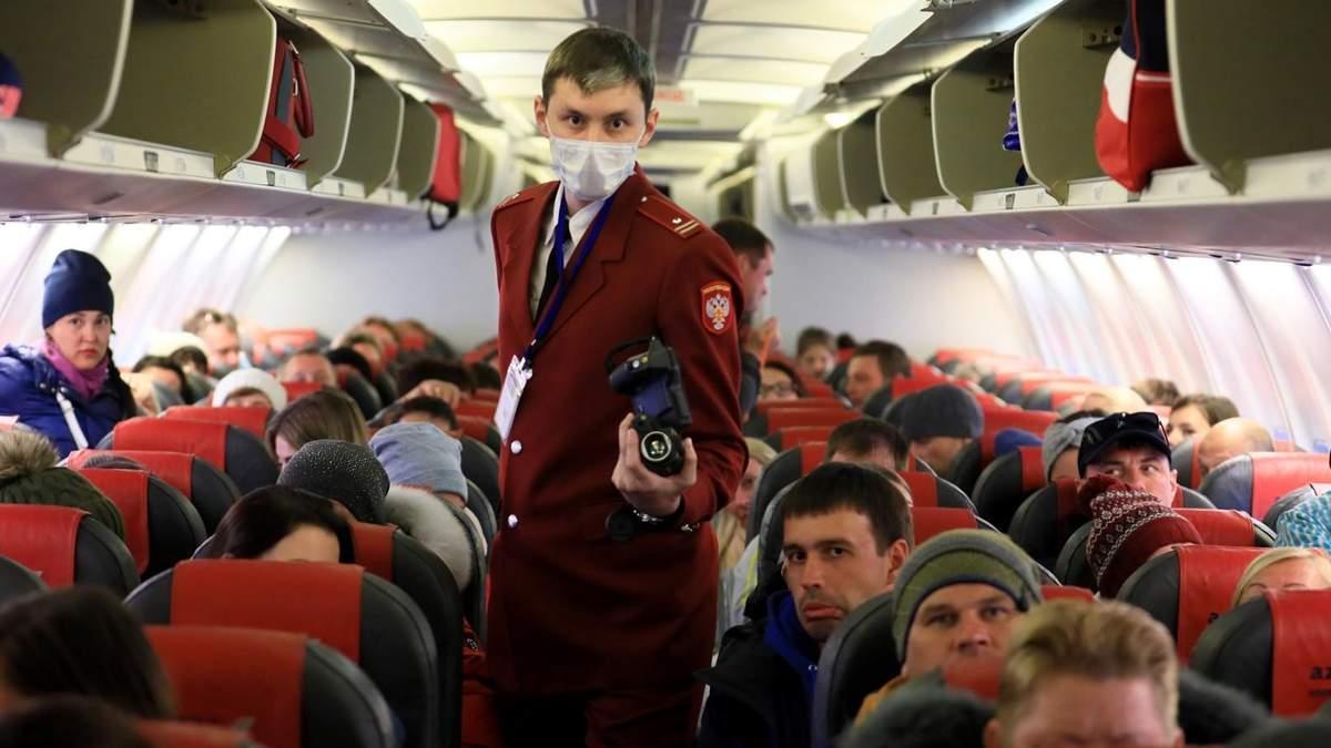 Росіян, яких евакуювали через коронавірус, ізолюють в карантині на два тижні