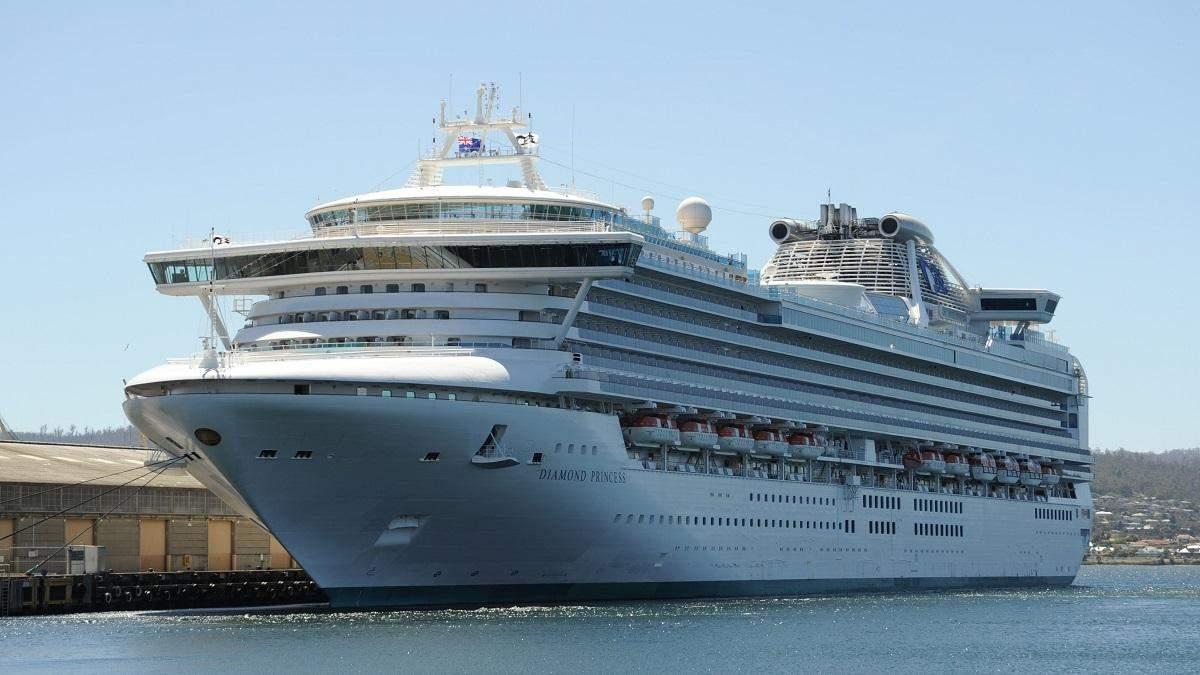 На круїзному лайнері Diamond Princess зросла кількість хворих коронавірусом