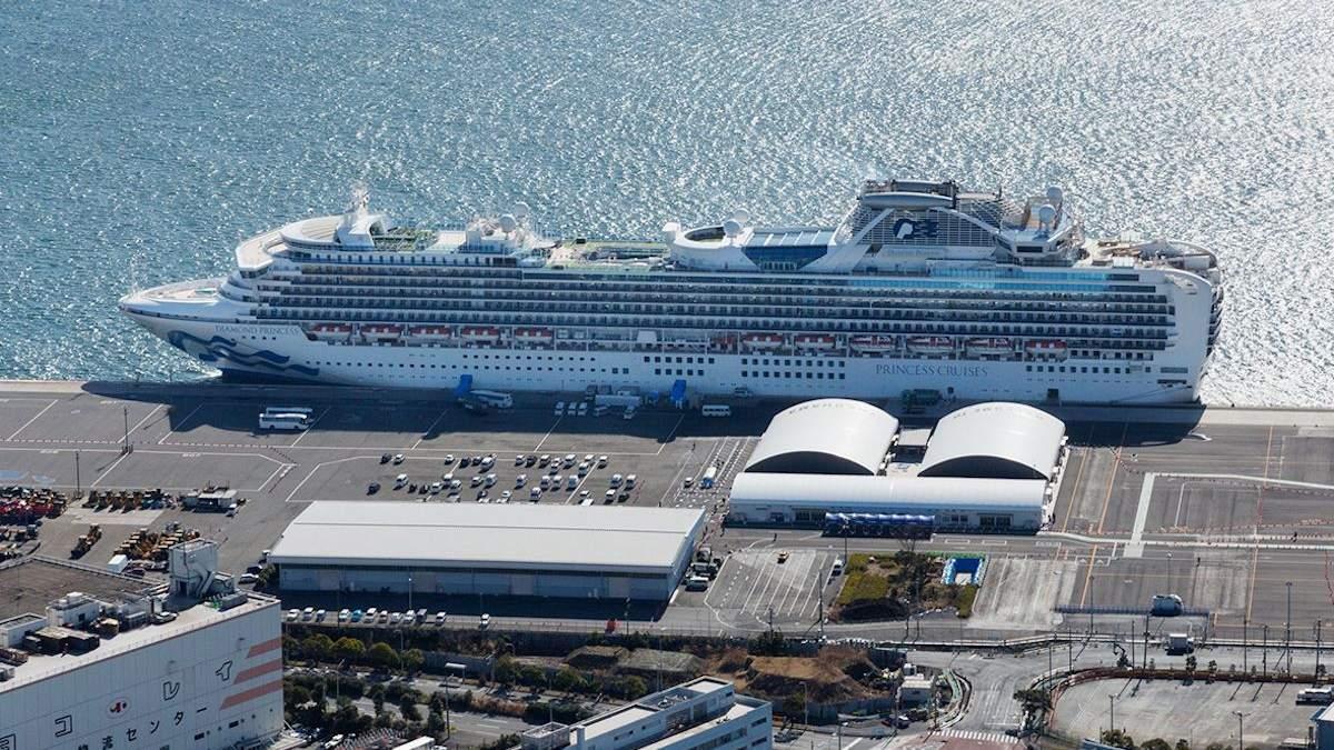 Коронавірус виявили у трьох людей, яких відпустили з лайнера Diamond Princess після карантину
