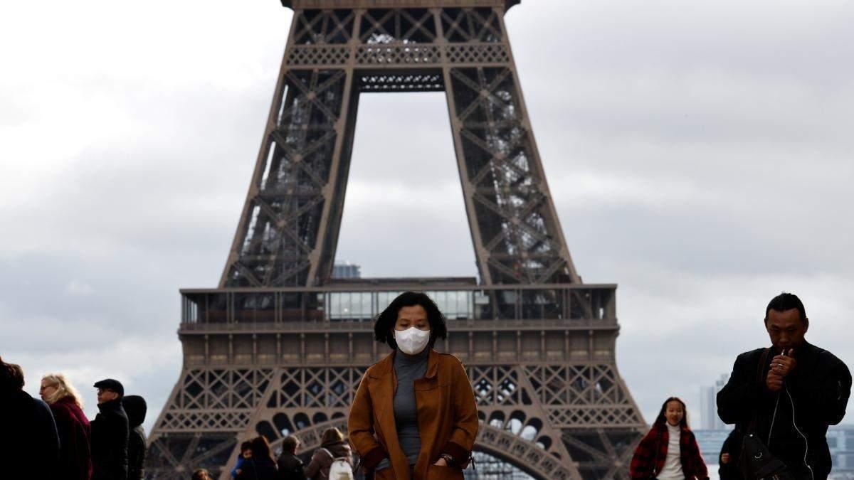 Лише за день у Франції на коронавірус захворіли майже сотня людей