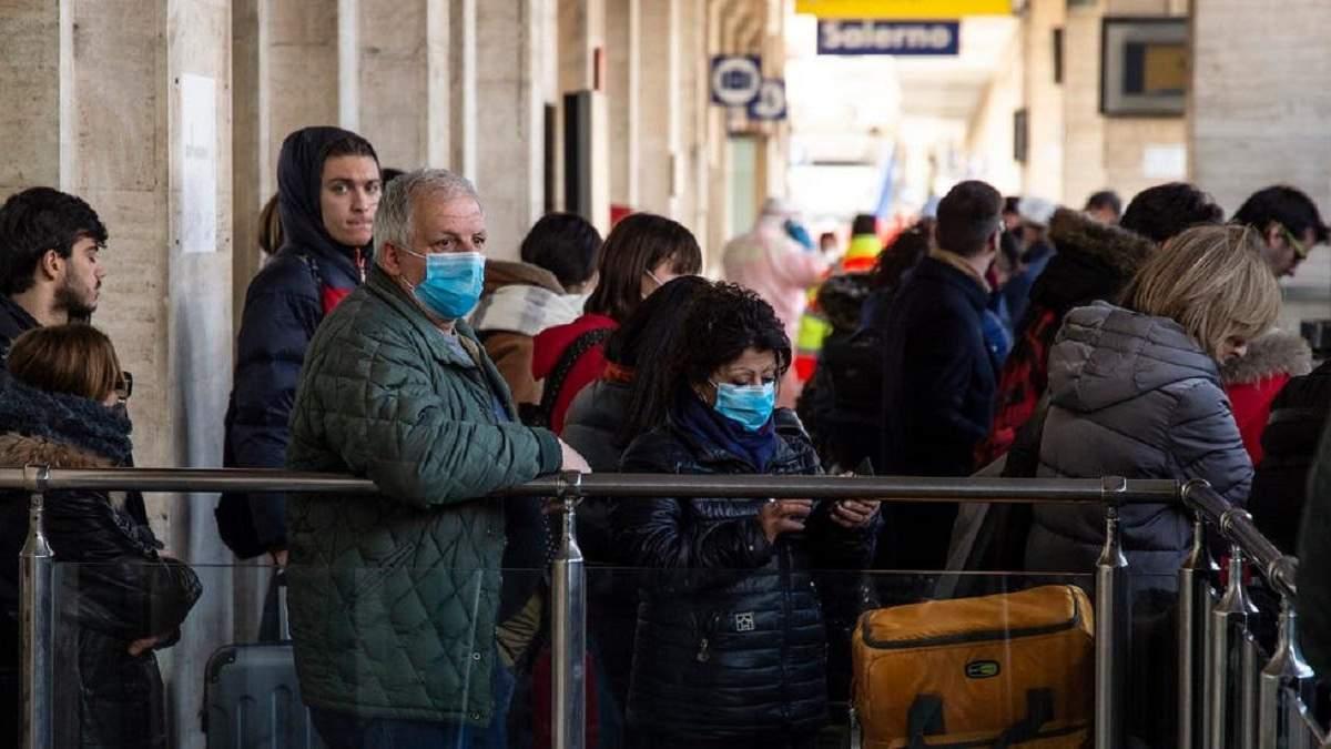Через коронавірус в Італії скасовують усі спортивні заходи і громадські зібрання