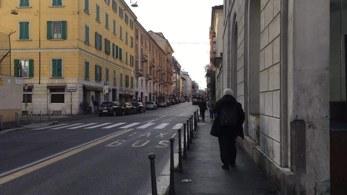 Улицы Милана во время эпидемии