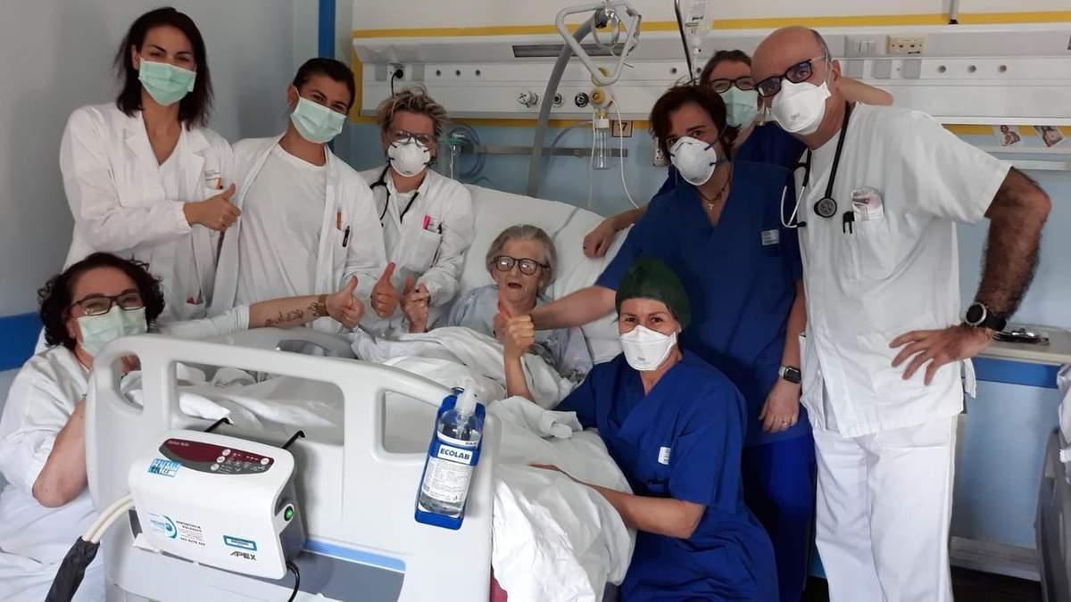 В Італії від коронавірусу вилікували 95-річну жінку: вона заразилась однією з перших
