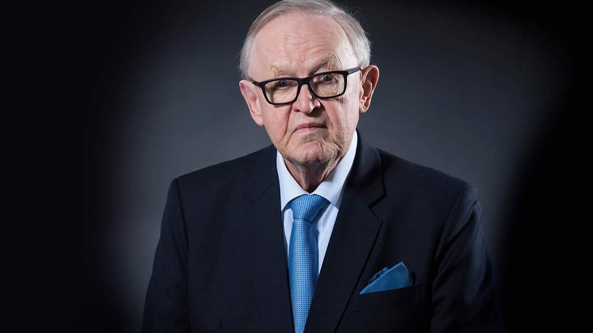 Експрезидент Фінляндії Марті Ахтісаарі хворий на коронавірус