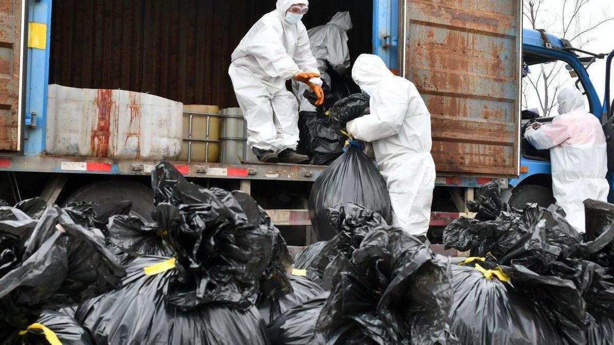 Сортування сміття під час пандемії