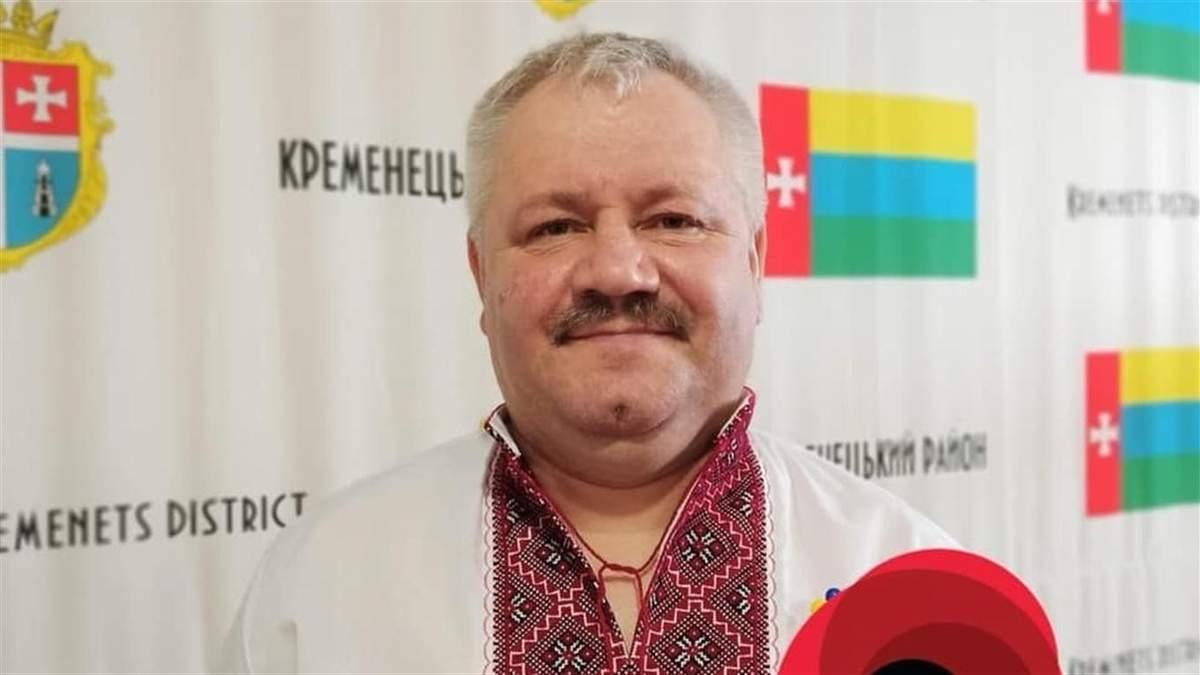 Через COVID-19 помер голова райради Кременця, який наголошував на критичній ситуації в регіоні