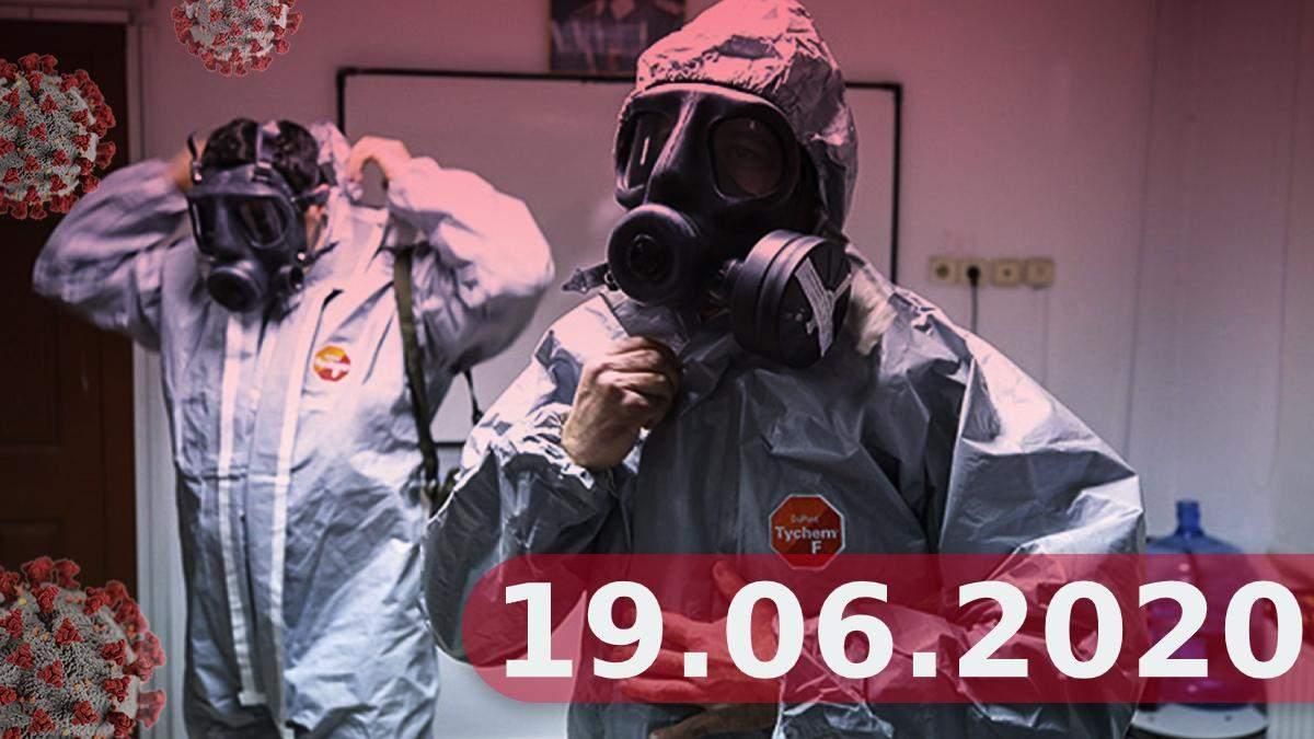 Коронавірус Україна, у світі 19 червня 2020: новини, статистика