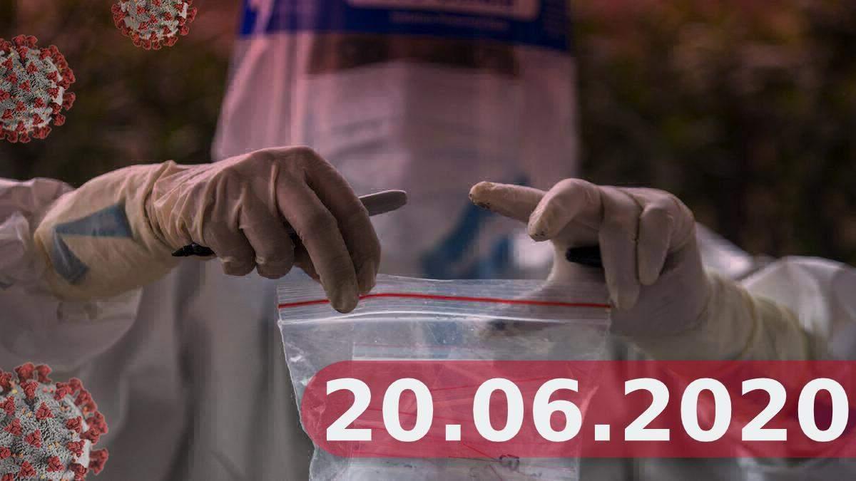 Коронавірус у світі, Україна 20 червня 2020: новини, статистика