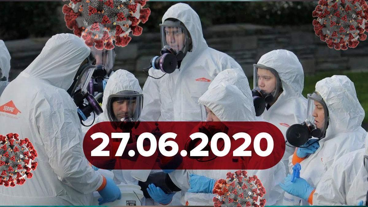 Коронавирус Украина, в мире 27 июня 2020: статистика, новости
