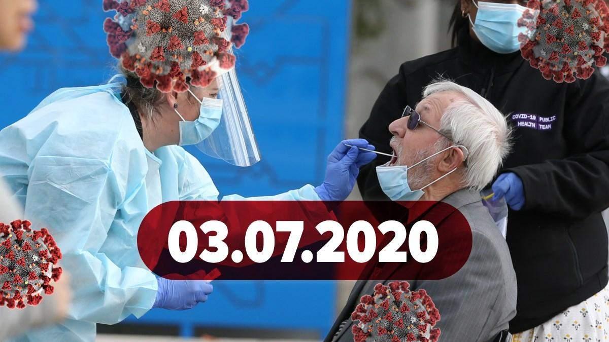 Коронавирус Украина, в мире 3 июля 2020: статистика, новости