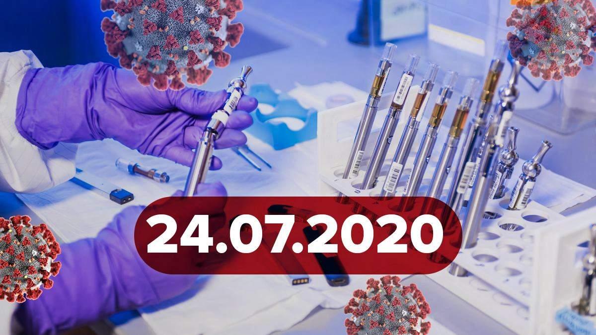 Новини про коронавірус 24 липня: спалах у психлікарні, які ліки провокують важкий перебіг