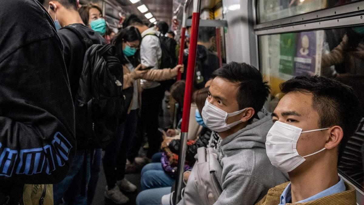 Приріст захворюваності на коронавірус в Китаї