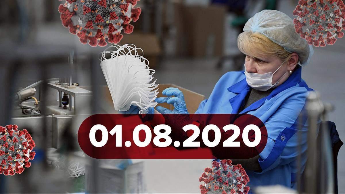 Коронавірус Україна, світ 1 серпня 2020: статистика, новини