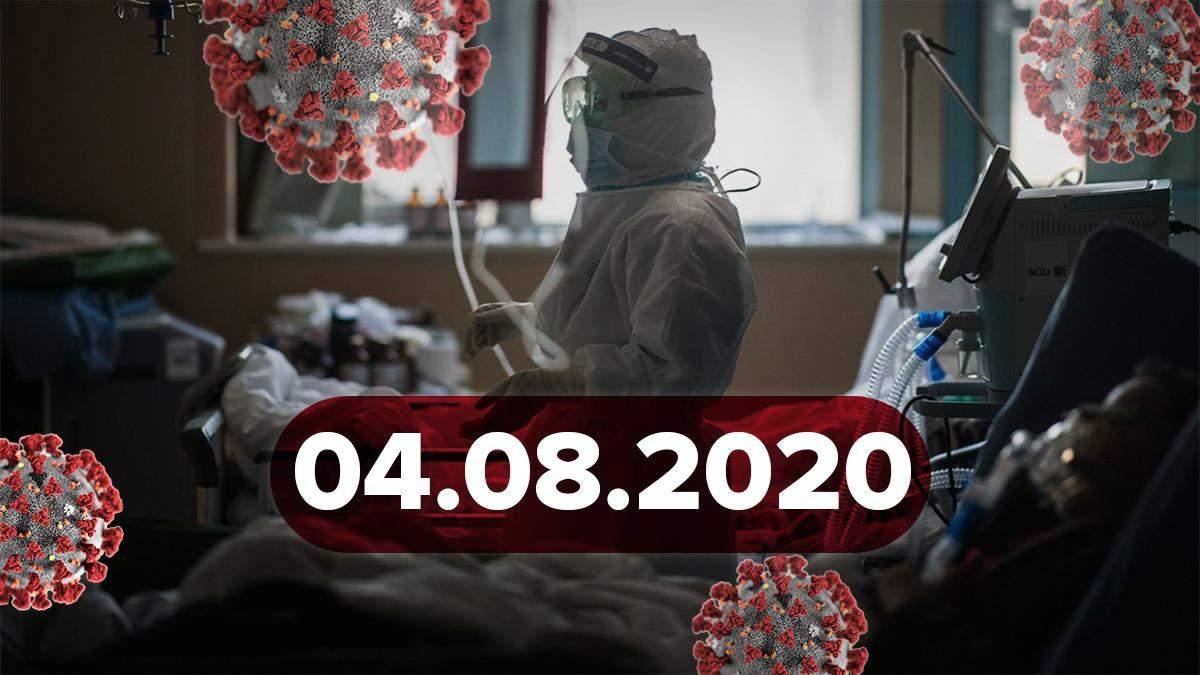 Коронавірус Україна, світ 4 серпня 2020: статистика, новини