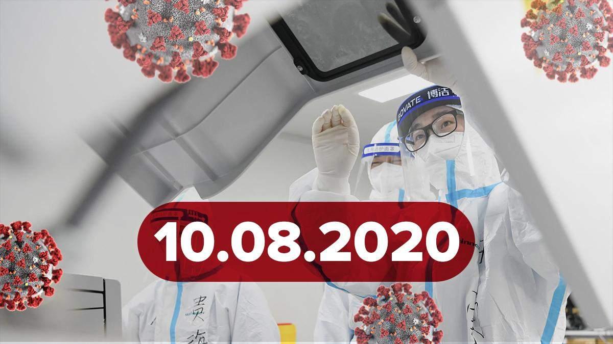 Коронавірус Україна, світ 10 серпня 2020: статистика, новини