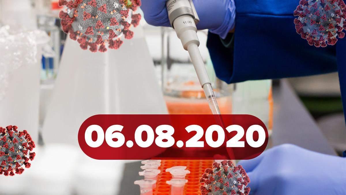 Коронавірус Україна, світ 6 серпня 2020: статистика, новини