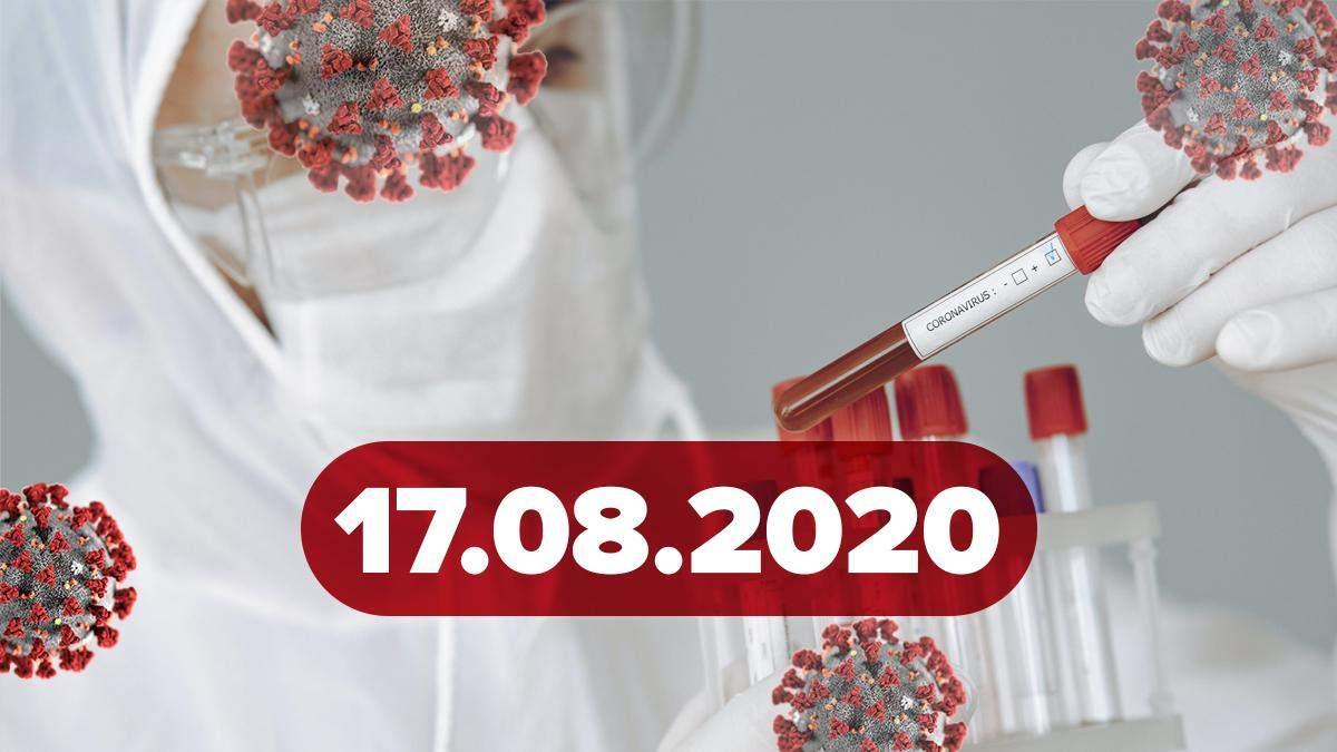Коронавірус Україна, світ 17 серпня 2020: статистика, новини