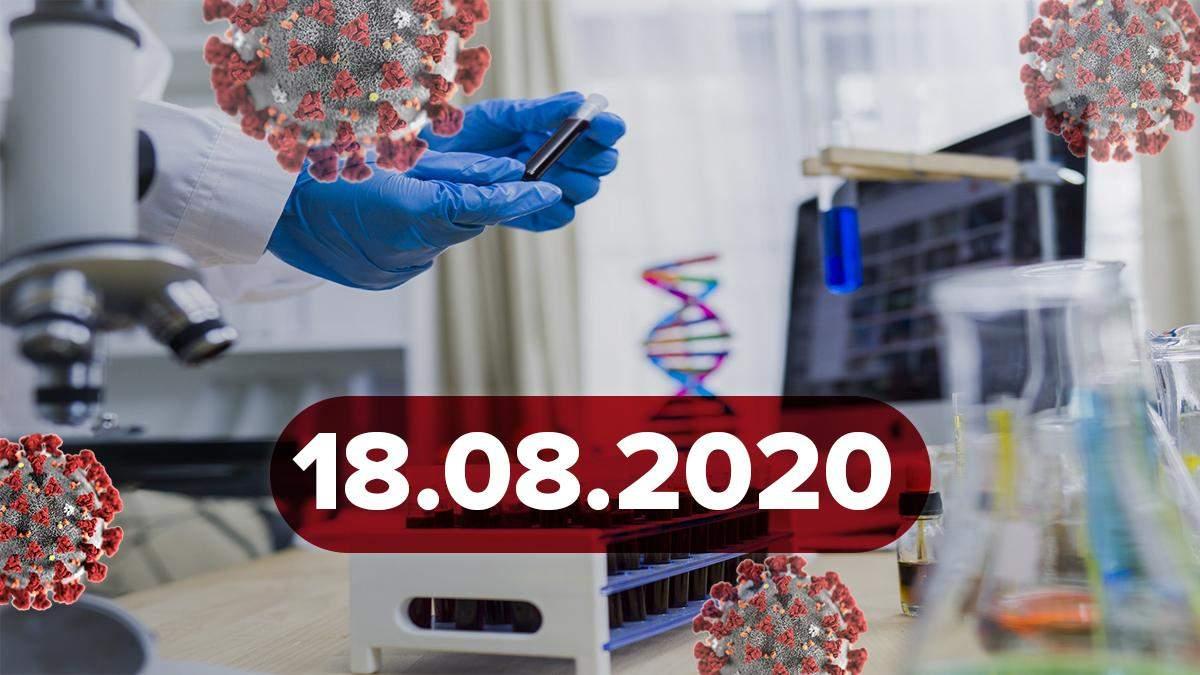 Коронавірус Україна, світ 18 серпня 2020: статистика, новини