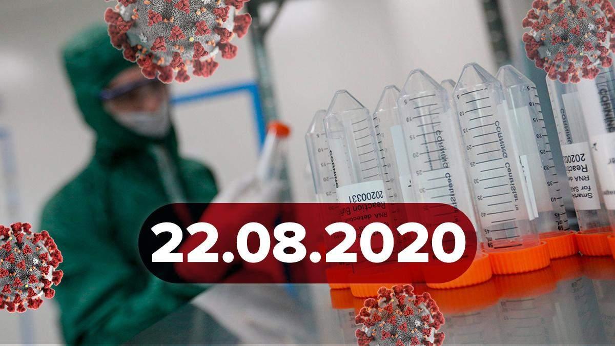 Коронавірус Україна, світ 22 серпня 2020: статистика, новини