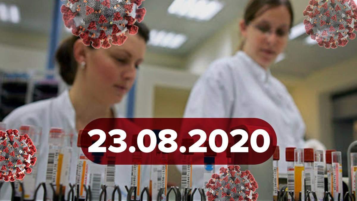 Коронавірус Україна, світ 23 серпня 2020: статистика, новини