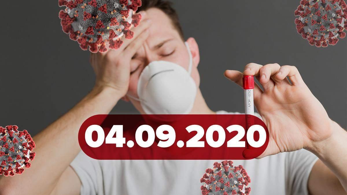 Коронавірус Україна, світ 4 вересня 2020: статистика, новини