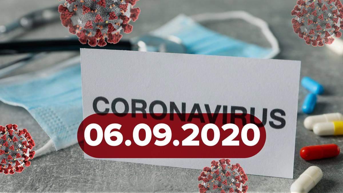 Коронавірус Україна, світ 6 вересня 2020: статистика, новини