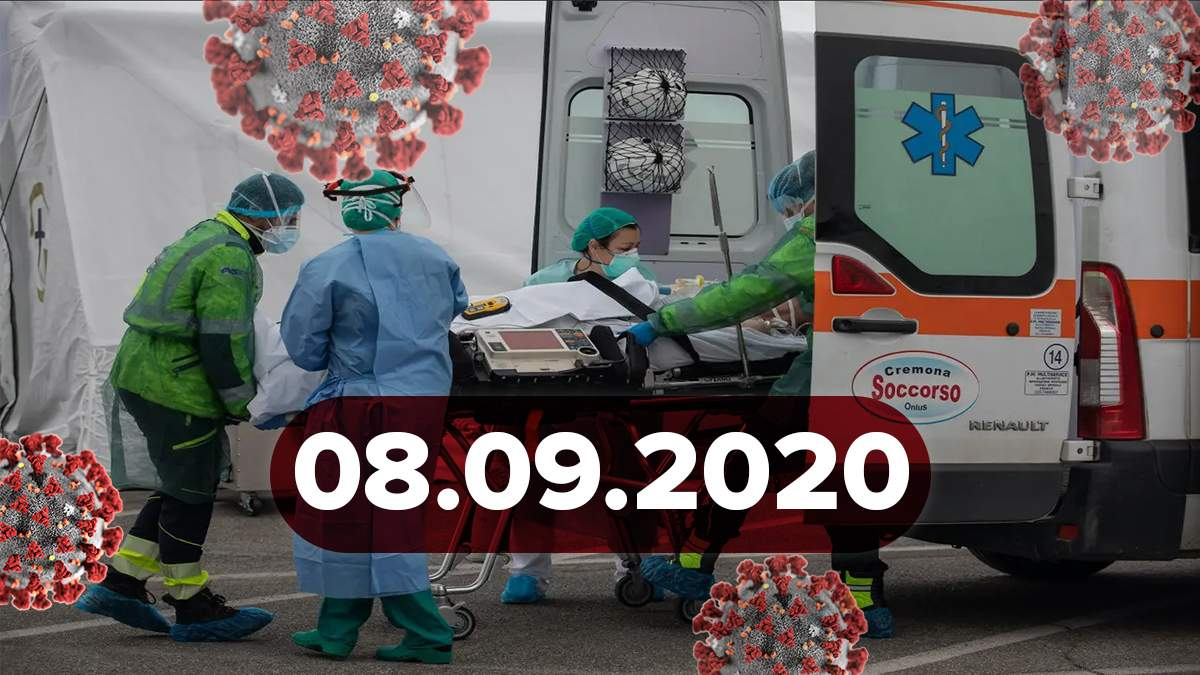 Новини про коронавірус 8 вересня: в Україні рекорд смертей, у світі 27 мільйонів інфікованих