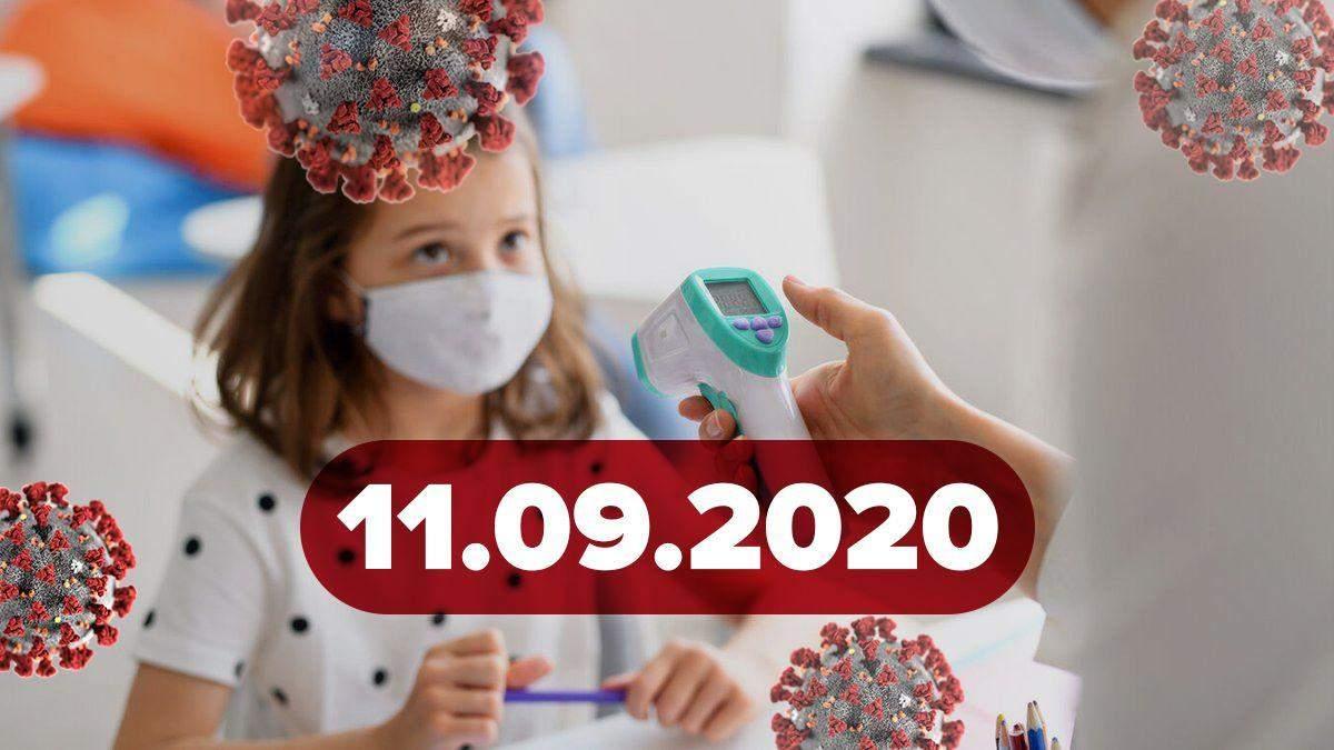Новини про коронавірус 11 вересня: збільшення хворих у школах, спалах серед зірок
