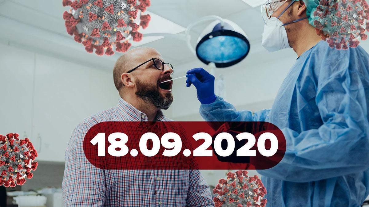 Коронавірус Україна, світ 18 вересня 2020: статистика, новини