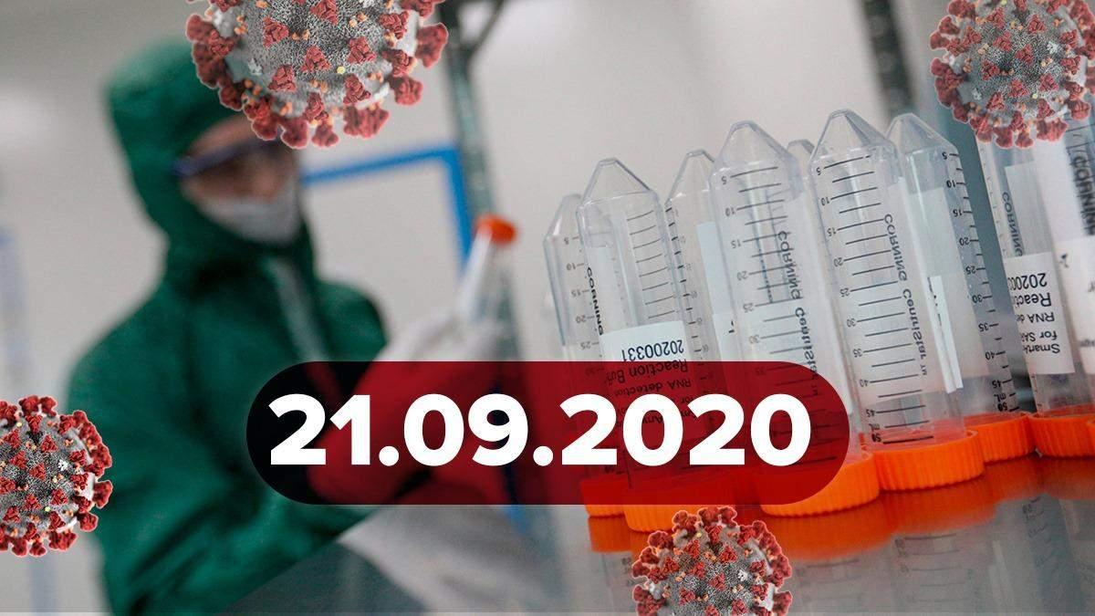 Коронавірус Україна, світ 21 вересня 2020: статистика, новини