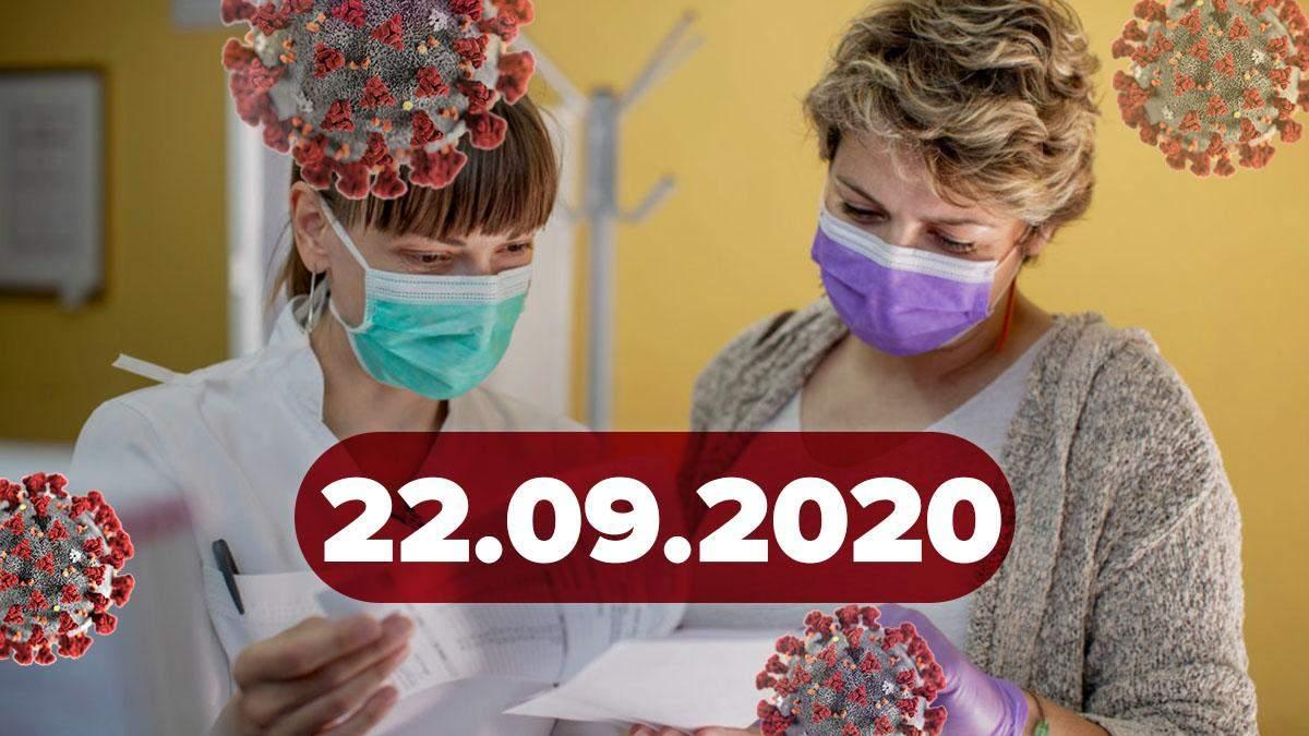 Коронавірус Україна, світ 22 вересня 2020: статистика, новини