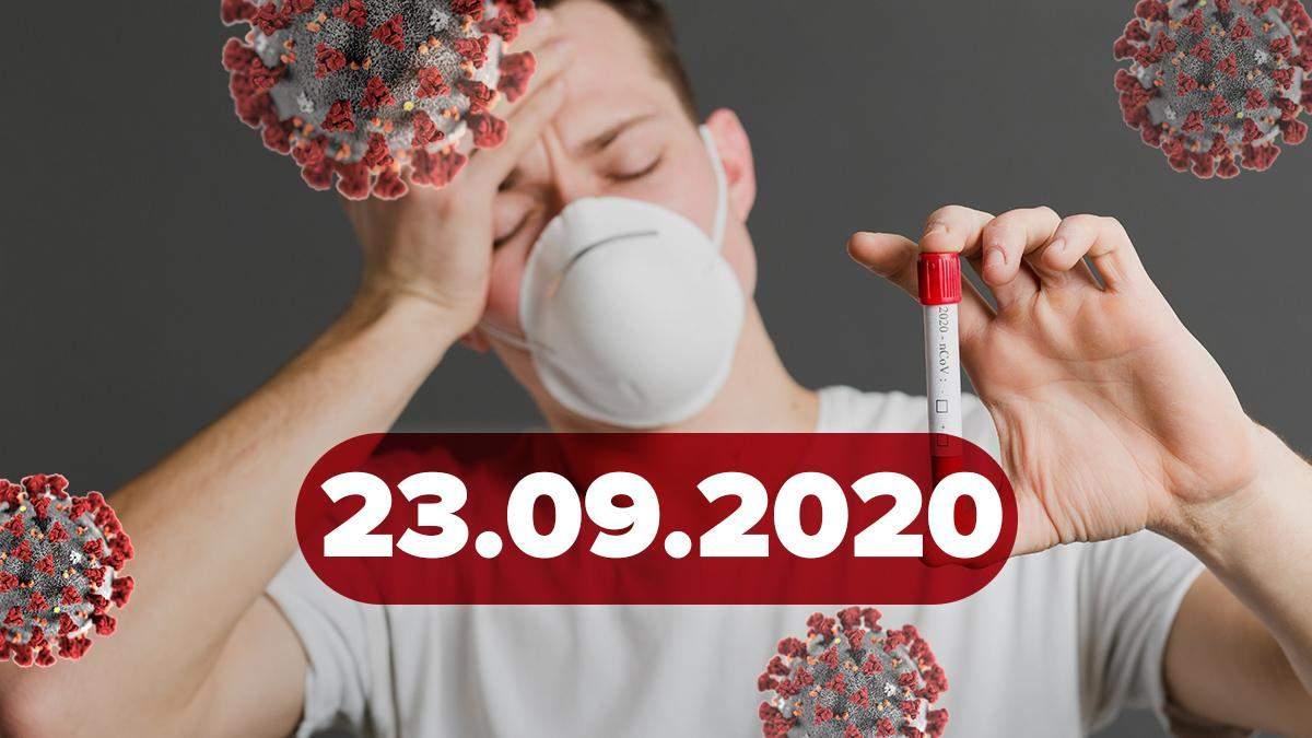 Новости о коронавирусе 23 сентября: два рекорда в Украине, смена церемонии Нобелевской премии