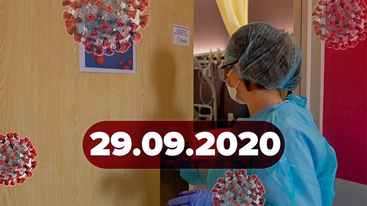 Коронавірус Україна, світ 29 вересня 2020: статистика, новини