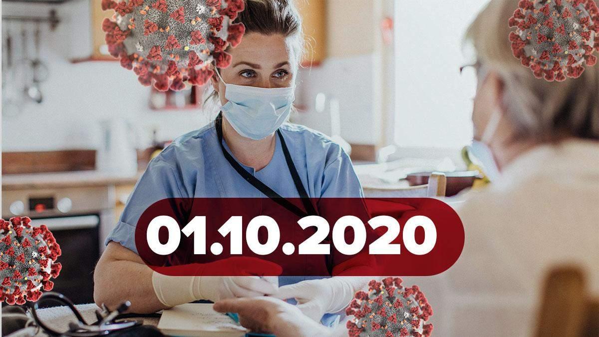 Коронавірус Україна, статистика 1 жовтня 2020: статистика, новини