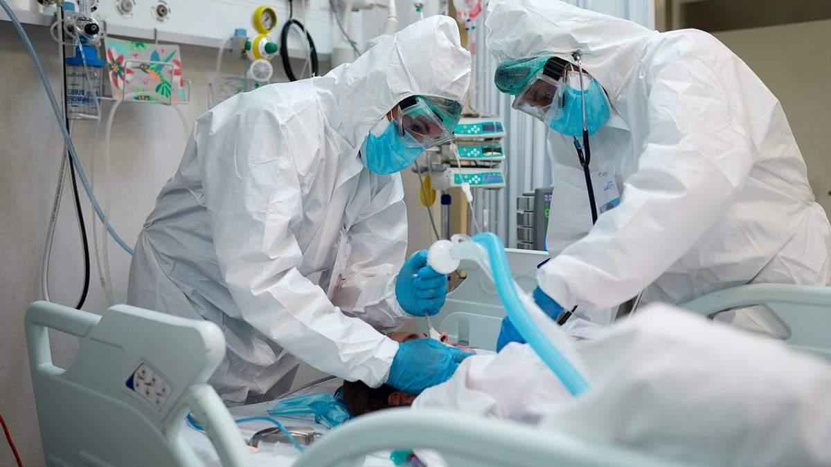 Завантаженість ліжок в лікарнях України