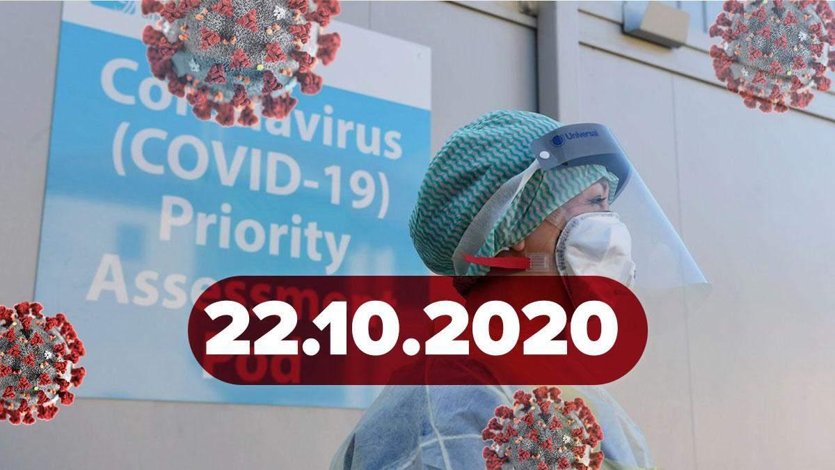 Коронавірус Україна, статистика 22 жовтня 2020: статистика, новини